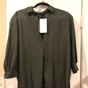 Zara Olive Green Blouse